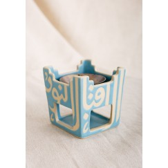 Blue Square Incense Burner
