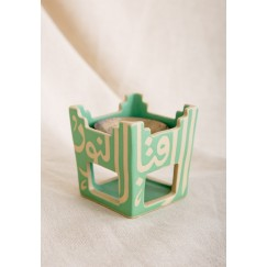 Green Square Incense Burner