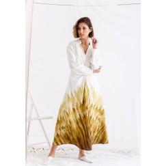White & Yellow Printed Dress