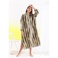 Green & Beige Printed Dress
