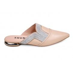 Thuraia Nude Leather Mules
