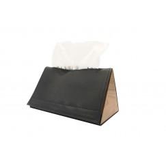 Triangle tissue box black