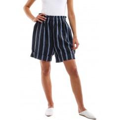 Ocean Black & Blue Striped Shorts