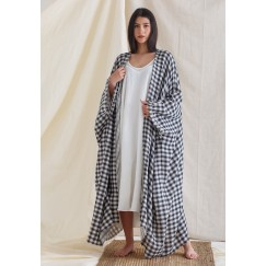 Bisht with Sleeveless Dress