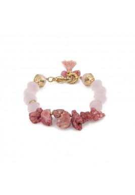 Druzy coral bracelet