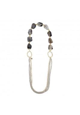 Gemstone long necklace