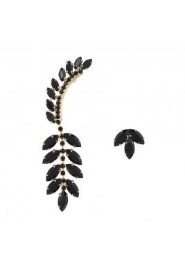 Asymmetric swarovski earrings