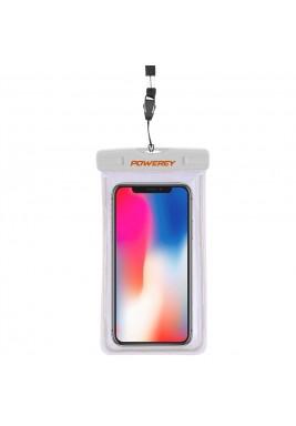 Powerey IPX8 - 7 inch Waterproof Phone Pouch - White