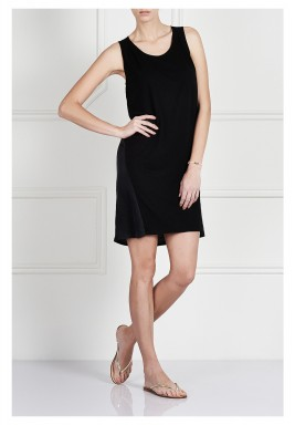 Black Paneled Sleeveless Dress