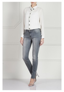 Grey Midrise Skinny Jeans
