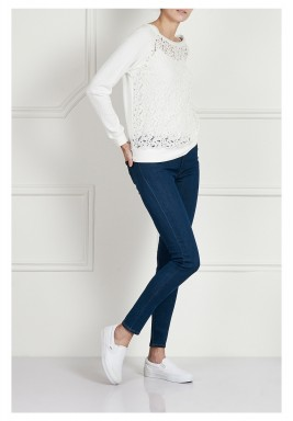 High-rise skinny jeans - Dark blue