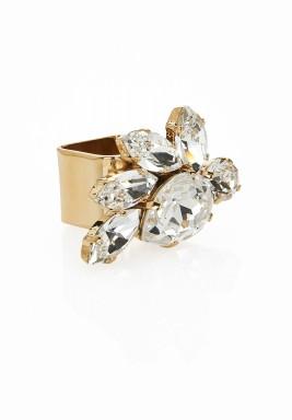 Crystal crown ring