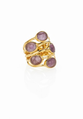 Gypsy multi-stone ring