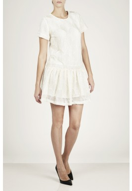 Reverie Off White Embellished Dress