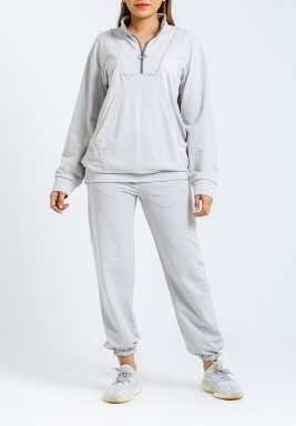 Retro Cloud Grey Training Suit