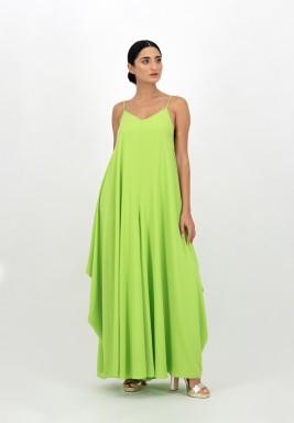 Green Side Draped Georgette Jumpsuit