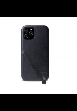 Raven Black Anello 360 Italian Leather Case for iPhone 12 / 12 Pro