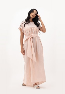 Apricot Blush Two-toned with Gathered kaftan