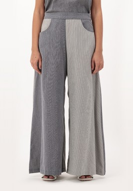 Grpahite Wide legged Cotton Pants