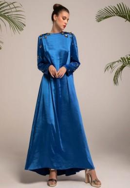 Blue Scattered Embellishment Kaftan