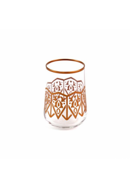 Koleksiyon Water Rose Gold Glass, Short, 6 Pieces Set - Print 20