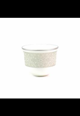 Koleksiyon Porcelain Silver Arabic Coffee Cup, 6 Pieces Set - Print 23