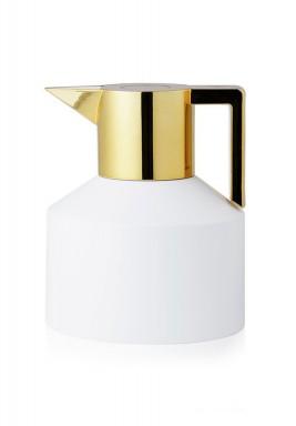 Geo Jug White shiny gold