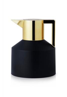 Black & Shiny Gold Geo Jug