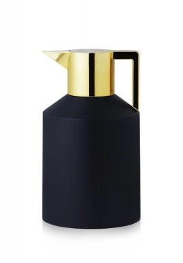 Black & Shiny Gold Geo Tall Jug