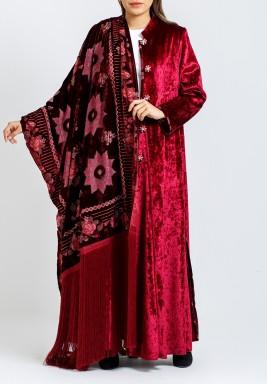 Maroon Coat & Shawl