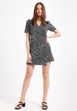Black Wrapover Dress