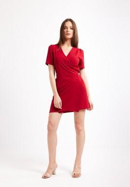 Red Wrapover Dress