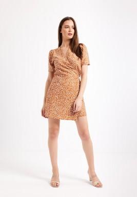 Rust Wrapover Dress