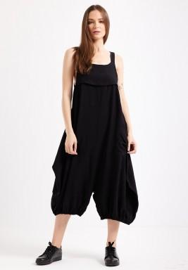 Black Front Pocket Jumpsuit