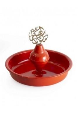 Circular metal plate Orange