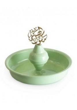 Circular metal plate Light green