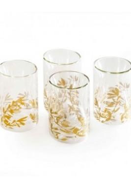 Glass-Zaytoun-Gold-Set of 4