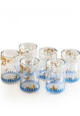 Glass zaytoun-Trq-set of 6