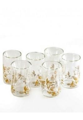 Glass-Zaytoun-Gold-Set of 6