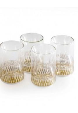 Glass mutanabi-gold set of 4