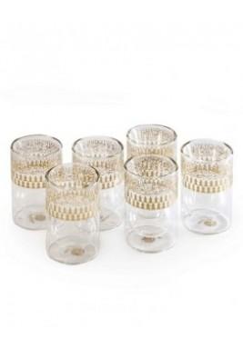 Glass-Mutanabi-Gold-Set of 6