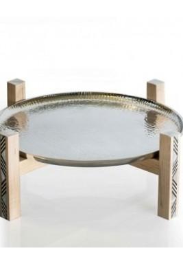 Almn & Plate on Stand Medium