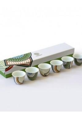 New Bone- Zellige Coffee Cup-Set of 6