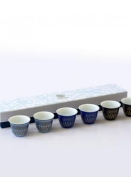 New Bone-Mutanabi Coffee Cup-Gold-Set of 6