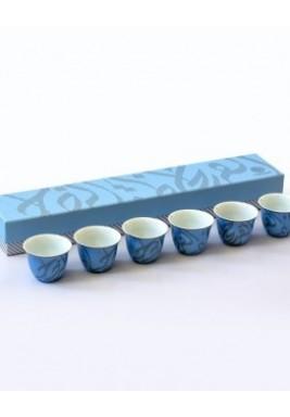 New Bone-Joy Coffee Cup-Silver-Set of 6