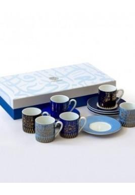 New Bone-Mutanabi Coffee Cup Gold-Set of 6