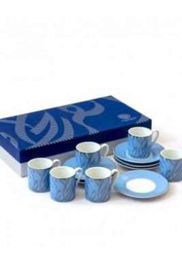 New Bone-Joy Coffee Cup Silver-Set of 6
