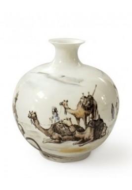 Big Ceramic Vase Pencil Sketch Camel