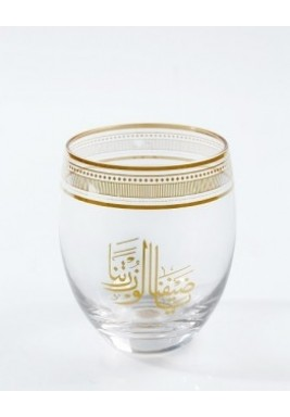 Gold Calligraphy Glass - Set of 6