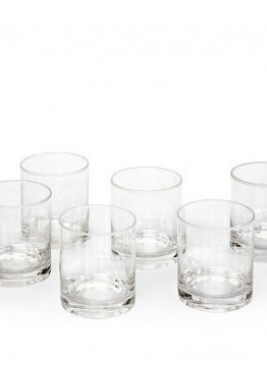 White Dotted Glass - Set of 6